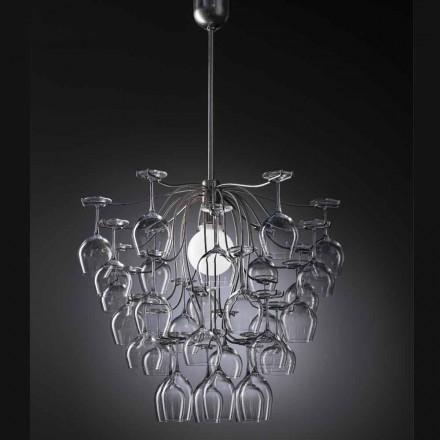 Modern design pendant lamp with 30 glasses Sauvignon