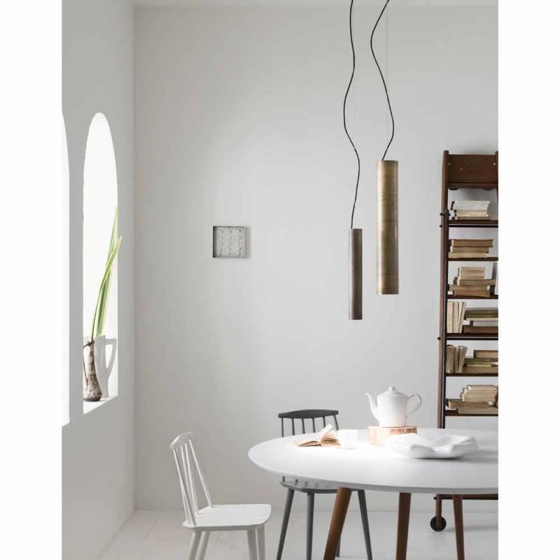 Lamp cylindrical suspension Ø4 Girasoli Il Fanale