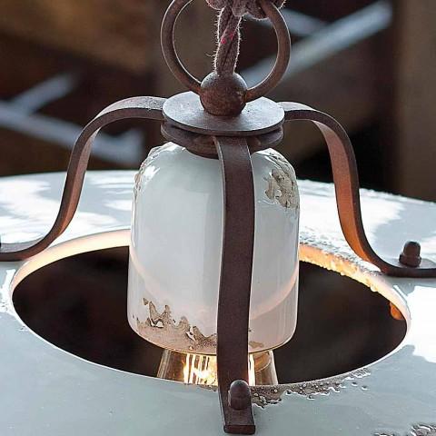 Lamp country suspension of ceramic and metal Sara Ferroluce