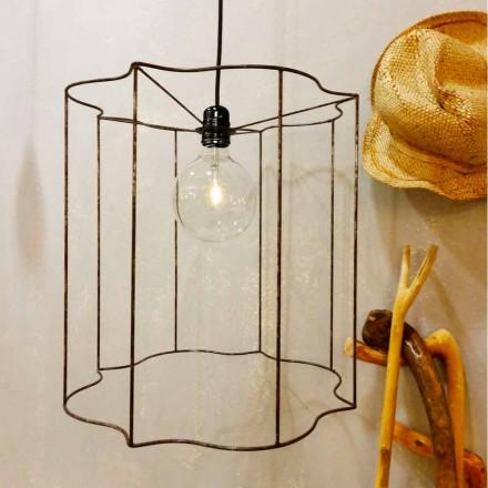 Design suspension / floor lamp with Cigno cage