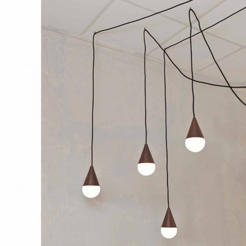 Modern 4 Light Corten Pendant Lamp Drop