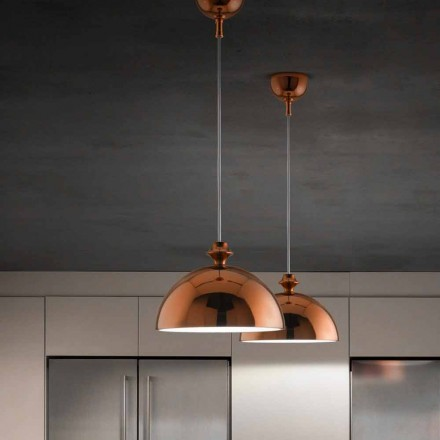 Modern design ceramic pendant light I Lustri 8 by Aldo Bernardi