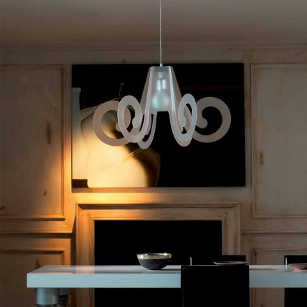 Modern design pendant lamp Rania, made of methacrylate, 75 cm diam.