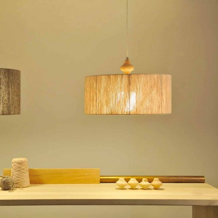 Wooden pendant lamp Bois, 400 cm cable