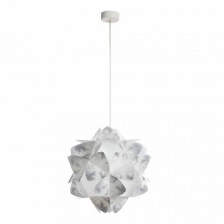 Modern design pendant lamp Kaly, grey colour, 46 cm diameter