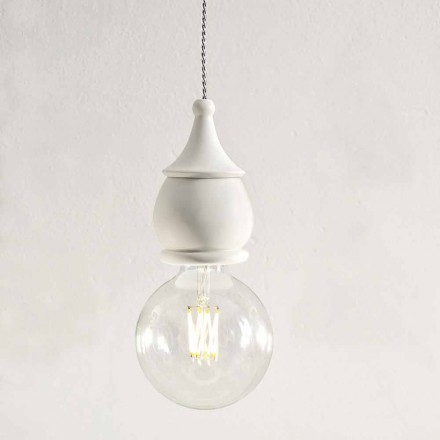 Shabby Chic Ceramic Suspension Lamp - Fate by Aldo Bernardi