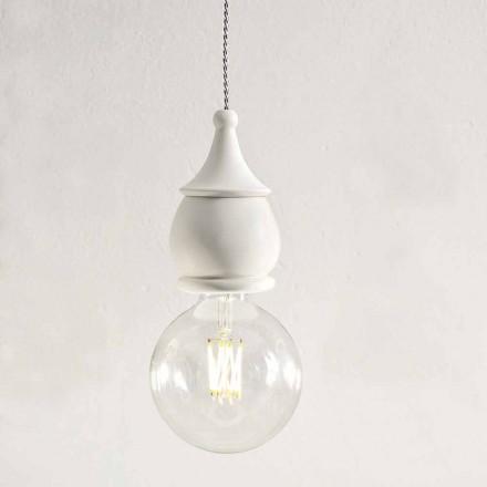 Shabby Chic Ceramic Suspension Lamp - Fate by Aldo Bernardi