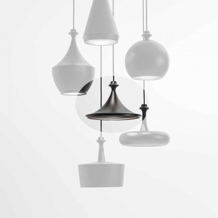 Ceramic Suspension Led Lamp - Lustrini L1 Aldo Bernardi