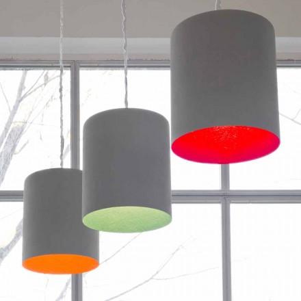 Designer pendant lamp In-es.artdesign Bin Painted cement
