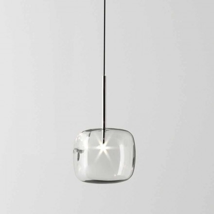 Design Suspension Lamp in Metal and Glass Made in Italy - Donatina