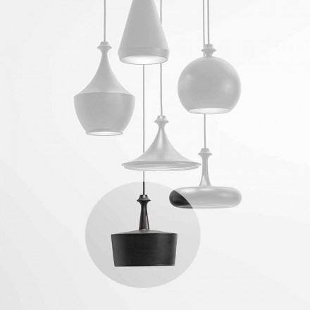 LED Ceramic Light Suspension Lamp - L6 Glitter Aldo Bernardi