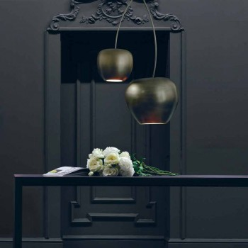 Cherry-Shaped Ceramic Suspension Lamp Made in Italy - Cherry