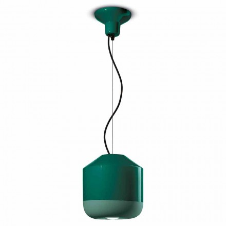 Suspension Lamp in Colored Ceramic Made in Italy - Ferroluce Bellota