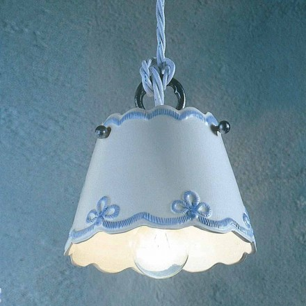 Ceramic pendant light handmade in Italy by Ferroluce