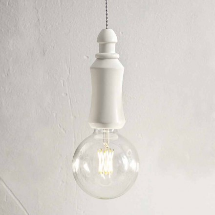 Ceramic Shabby Suspension Lamp Made in Italy - Fate Aldo Bernardi