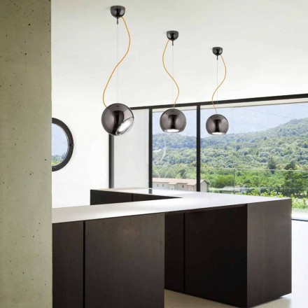 Designer ceramic pendant light Globo by Aldo Bernardi
