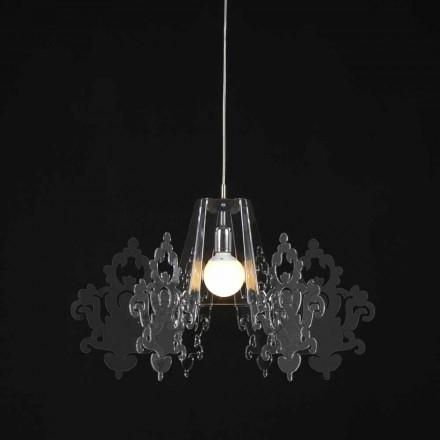 Modern design methacrylate pendant lamp Alessia, diam. 70 cm
