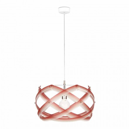 Modern pendant lamp Vanna, methacrylate, diam. 53 cm, with decorations
