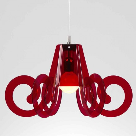 Modern design pendant lamp Livia, 55 cm diam, made of methacrylate