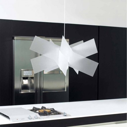 Pendant lamp Nataly, made of methacrylate, 69x69 cm, made in Italy
