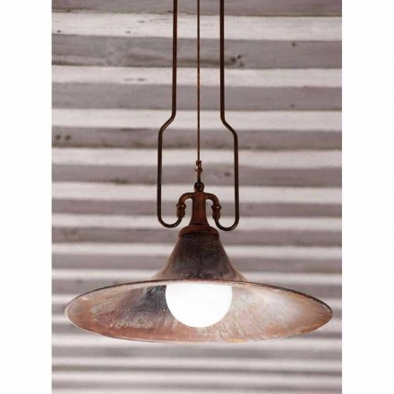 Modern pendant light made of brass and copper Mulino