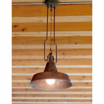 Contemporary pendant light made of copper and brass Fonderia