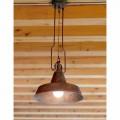 Contemporary pendant light made of copper and brass Fonderia