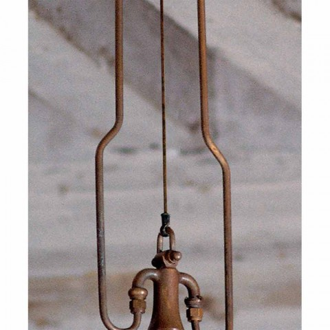 Pendant lamp in antique copper and brass foundry