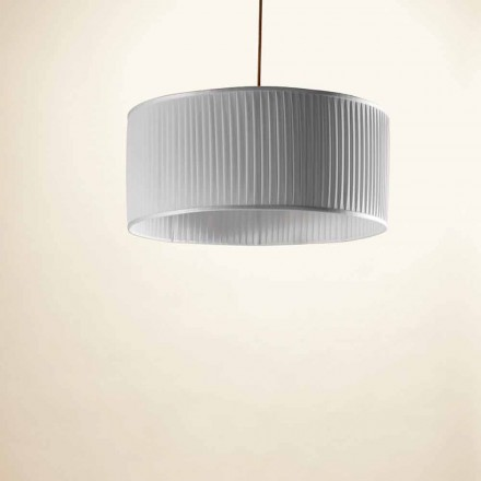 Modern grey silk pendant light Bamboo,  ø 50 cm