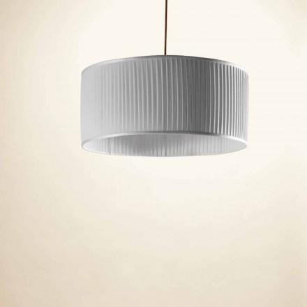Pendant lamp in silk, gray, Bamboo