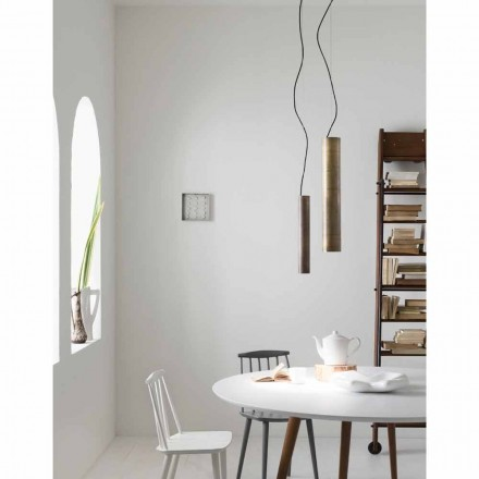 Made in Italy cylindrical pendant light Girasoli  Ø10 Il Fanale