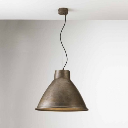 Iron pendant light with industrial design Loft Big Il Fanale