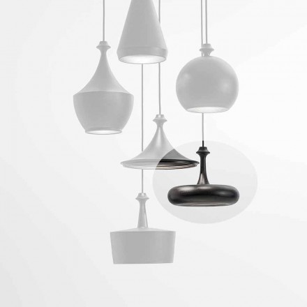LED Suspension Lamp Made in Italy in Ceramic - L4 sequins Aldo Bernardi