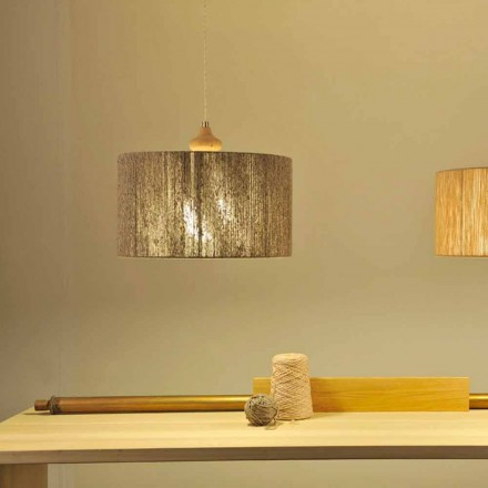 Modern design pendant light with wooden element Bois