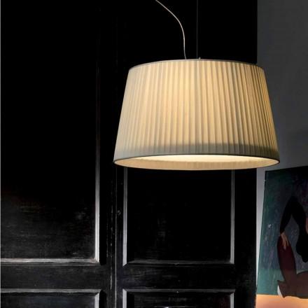 Modern pendant lamp in ivory Bamboo silk