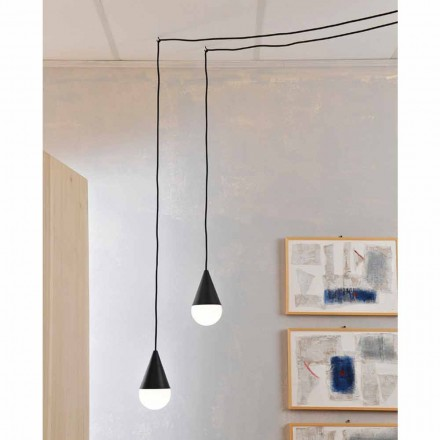 Modern pendant lamp, black model Drop