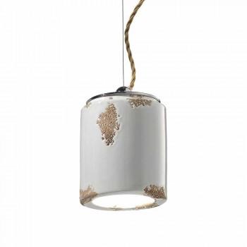 Hanging lamp crafted vintage Ferroluce
