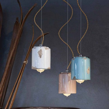 Vintage design handmade pendant light made in Italy by Ferroluce