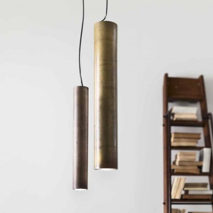 Cylindrical pendant light Girasoli Ø8 Il Fanale, made in Italy