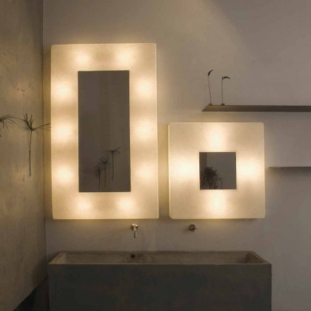 Design wall lamp with mirror In-es.artdesign Ego in nebulite