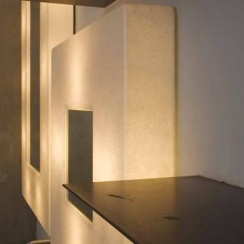 Design wall lamp with mirror In-es.artdesign Ego in nebulite