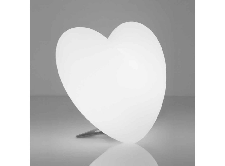 Colored Slide Love table lamp heart made in Italy