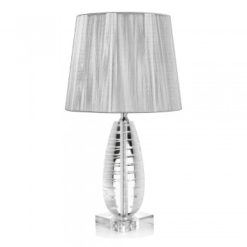 Classic Crystal Table Lamp and Luxury Square Lampshade - Squilla