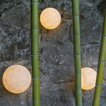 Wall-mounted outdoor lamp In-es.artdesign A. Moon Out in nebulite