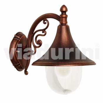 Outdoor wall lamp in die-cast aluminum made in Italy, Anusca