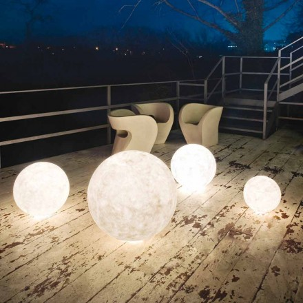 Outdoor floor lamp In-es.artdesign Ex.Moon in nebulite
