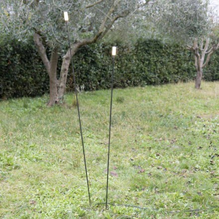 Outdoor Lamp in Painted Iron Minimal Design Made in Italy - Filo