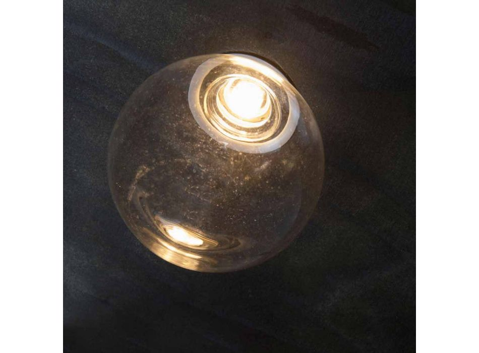 Aluminum Recessed Lamp with Decorative Glass Made in Italy - Ampolla