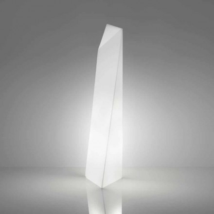 Modern white prism-shaped floor lamp Slide Manhattan, made in Italy
