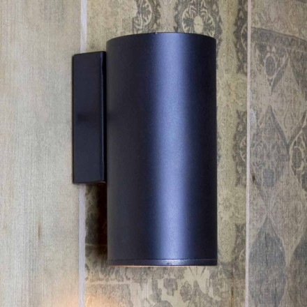 Handmade Cylindrical Iron Wall Lamp Made in Italy - Gemina